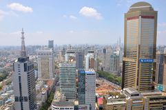 City center of Nanjing, China stock images