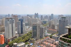 City center of Nanjing, China Royalty Free Stock Photos