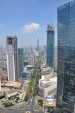 City center of Nanjing, China Royalty Free Stock Photo