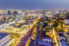 City center in the night. Ho Chi Minh city. Ho Chi Minh City has the most dynamic economy in Vietnam Stock Photo