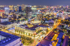 City center in the night. Ho Chi Minh city. Ho Chi Minh City has the most dynamic economy in Vietnam Stock Photos