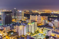 City center in the night. Ho Chi Minh city. Ho Chi Minh City has the most dynamic economy in Vietnam Stock Image