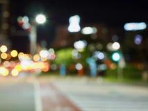 City center night street bokeh, missed focus. Photographed in Korea City center night street bokeh, missed focus stock photos