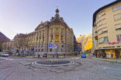 City center in the Old Town of Chur stock photography