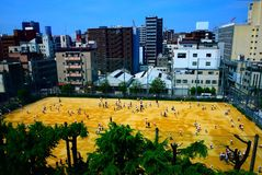 The city center of Osaka Stock Image