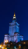 City center with Palace of Culture and Science. Warsaw, Poland. City center with Palace of Culture and Science, a landmark and symbol of Stalinism and communism Stock Photo