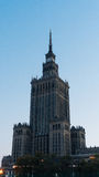 City center with Palace of Culture and Science. Warsaw, Poland. City center with Palace of Culture and Science, a landmark and symbol of Stalinism and communism Stock Images