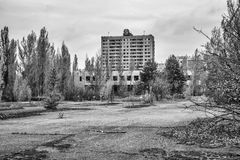 City center Pripyat, building view `energetic` Royalty Free Stock Image