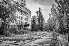 City center Pripyat, building view `energetic` Stock Images
