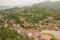 The city center of Sapa Village, Lao Cai Provice, Vietnam Stock Image