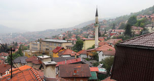 The city center of Sarajevo, Bosnia and Herzegovina Royalty Free Stock Images
