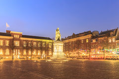 City center square of the Dutch town The Hague at night Stock Photography