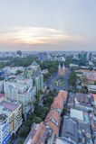 City center. View of  Ho Chi Minh city from high place . Ho Chi Minh City has the most dynamic economy in Vietnam Stock Photo
