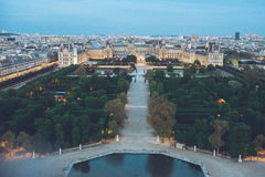 City Center View of Paris from the top Royalty Free Stock Photography