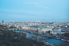 City Center View of Paris from the top Royalty Free Stock Photo
