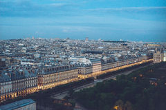 City Center View of Paris from the top Royalty Free Stock Image