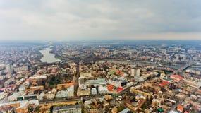 The city center of Vinnytsia, Ukraine. Aerial view stock photos