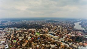 The city center of Vinnytsia, Ukraine. Aerial view Stock Photography