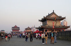 City center wall, Xi'an, China Stock Image
