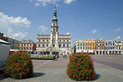 City Centre. A look at the ancient city of Zamosc Square, located in northeast Poland Stock Images