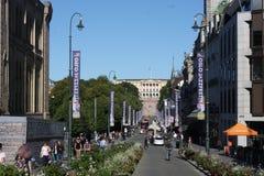 City centre around the main street Karl Johans gate Royalty Free Stock Photography