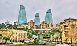 The city centre of Baku stock photos