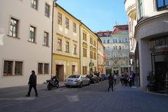 The city centre Brno on April 30, 2016. Brno is the second largest city in the Czech Republic Stock Image