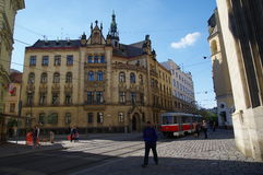 The city centre Brno on April 30, 2016. Brno is the second largest city in the Czech Republic Stock Images