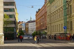The city centre Brno on April 30, 2016. Brno is the second largest city in the Czech Republic Royalty Free Stock Photo