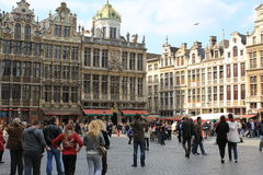 City centre of Brussels - Grand Place Royalty Free Stock Photo