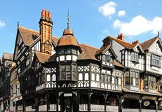 City centre buildings, Chester. Stock Photo