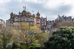 City centre in Edinburgh, Scotland, UK. During spring time Stock Image