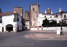 City centre, Evora, Portugal. Stock Images