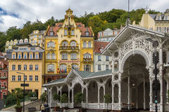City centre of Karlovy Vary,Czech Republic. City centre of Karlovy Vary with Market Colonnade,Czech republic royalty free stock photos
