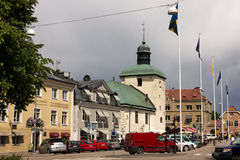 City centre & Main Street. Vadstena. Sweden Stock Photography