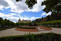 Malaga. City centre in Malaga, Andalusia, Spain stock photos