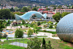 City centre and park of Tbilisi, Georgia Royalty Free Stock Photography