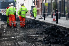 City centre roadworks Royalty Free Stock Images