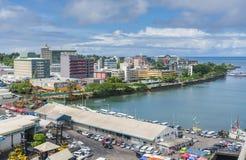 City centre of Suva in Fiji. Suva, Fiji - Mar 24, 2017: View of the city centre of Suva, the capital city of Fiji Stock Photos