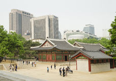 City centre temple in seoul south korea Royalty Free Stock Photo