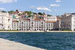 City centre of Trieste, Italy Royalty Free Stock Photos