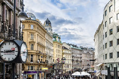 City centre view of Graben, Vienna Austria Stock Photo