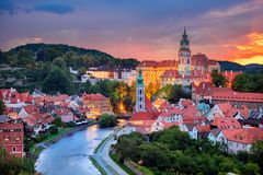City of Cesky Krumlov. royalty free stock image