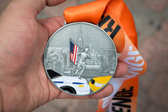 City Challenge Race medal. Youth City Challenge Race at Liberty State Park Stock Photography