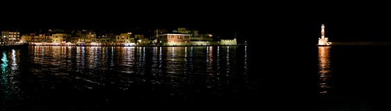 The city of Chania, promenade Stock Images