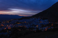 City Chefchaouen in Morocco Stock Images