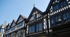 Splendour of the old buildings. City of Chester Cheshire England united kingdom royalty free stock photos