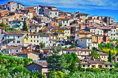 City of Chianciano Terme in Tuscany, Italy. City of Chianciano Terme in the province of Siena in Tuscany, Italy stock photo