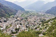 City of Chiavenna. At the festival of caves. Sagra dei crotti Stock Photos