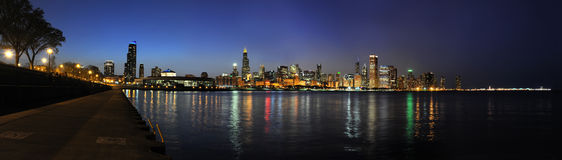 City of Chicago at Dusk Royalty Free Stock Photography